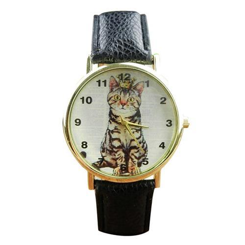 montre femme Lovely Cats Arabic Numerals Dial Faux Leather Band Analog Quartz Wrist Watch zegarek damski Ladies Dress Watches Gi