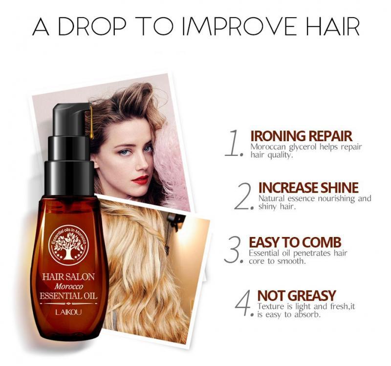 Multi-funcional de cuidado del cabello aceite de argán marroquí cuero cabelludo tratamientos aceite esencial de pérdida de cabello dañado reparación aceite esencial para el cabello TSLM1