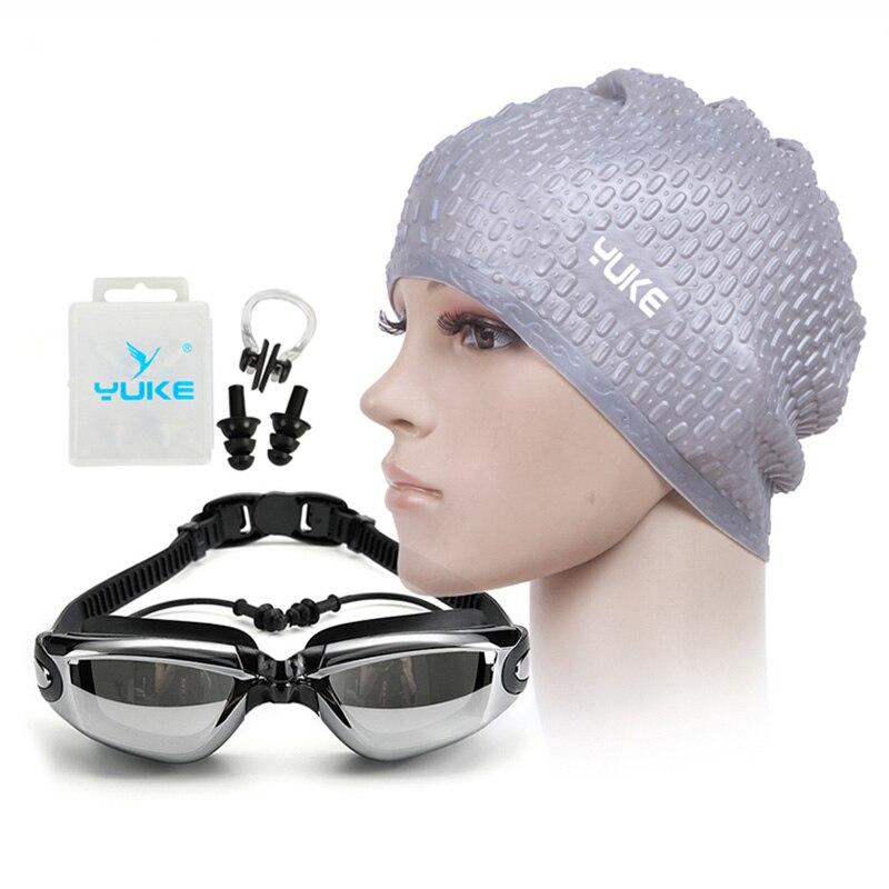 YUKE gafas de natación HD gafas de prescripción miopía gafas de acetato lentes con revestimiento gafas de natación para adultos piscinas de natación