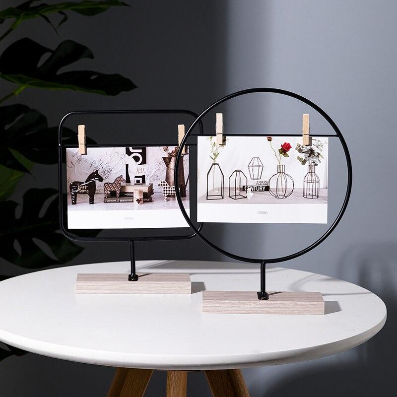 Nórdicos 6 pulgadas Foto Clips para marco creativo DIY hecho a mano decoración de escritorio multifuncional Certificado de plataforma