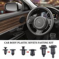 160Pcs 3Sizes Mixed Auto Fastener Car Bumper Clips Body Push Retainer Pin Rivet Panel Retainer Car Plastic Rivets Fastening Kit
