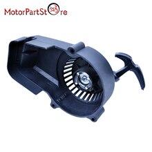 Nowe czarne plastikowe zapłon rozrusznik do 49cc 47cc 2-silniki dwusuwowe Mini Quad atv skutery motorynka i rakiet rower