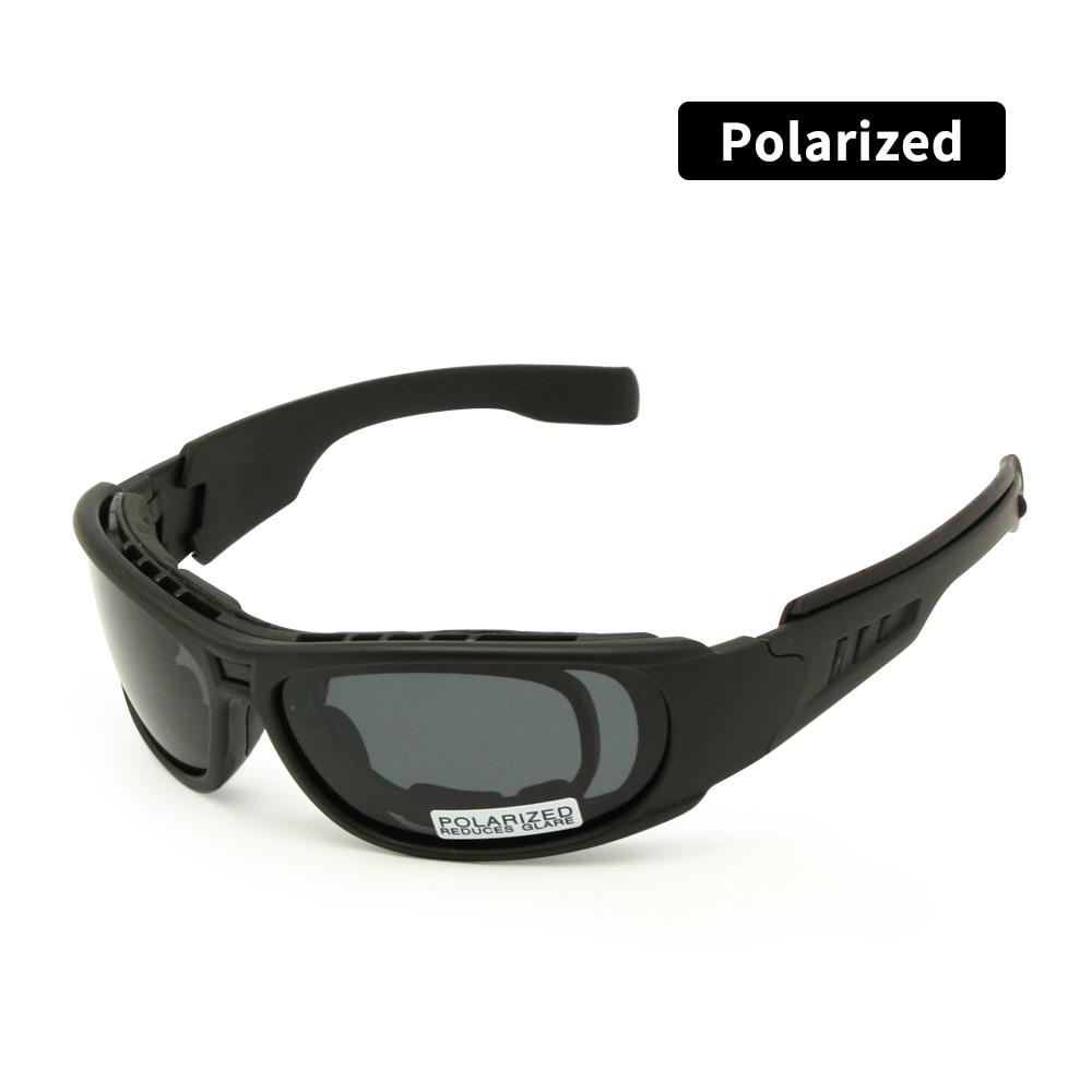 Polarized Ballistic Army Sunglasses Daisy One C6 Military Goggles Rx Insert 4 Lens Kit Men Combat Wa