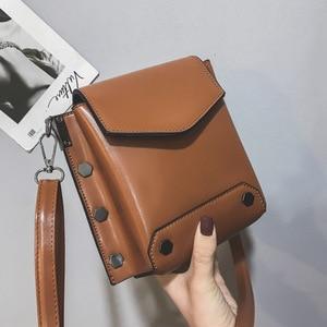 Mini Solid Color Small Bag Girl 2020 New Autumn and Winter Woman Bag Back  Square Bag Ins Shoulder Bag