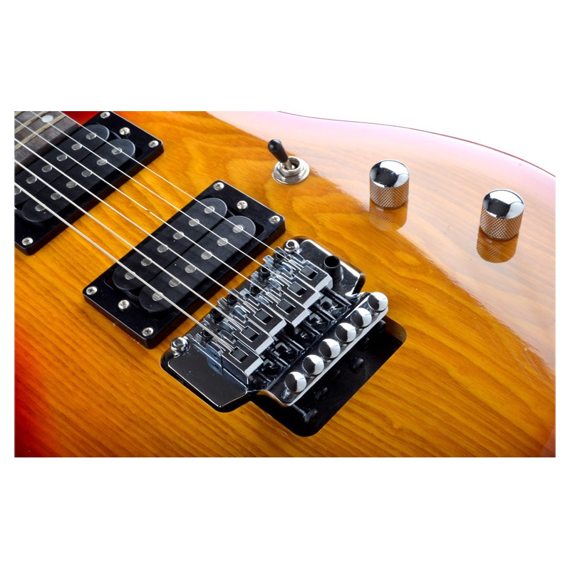 HOT 39Inch Double Rock Electric Guitar Concert Dedicated Guitar Fraxinus Mandshurica Panel Rock Guitar Gift EGT197 enlarge