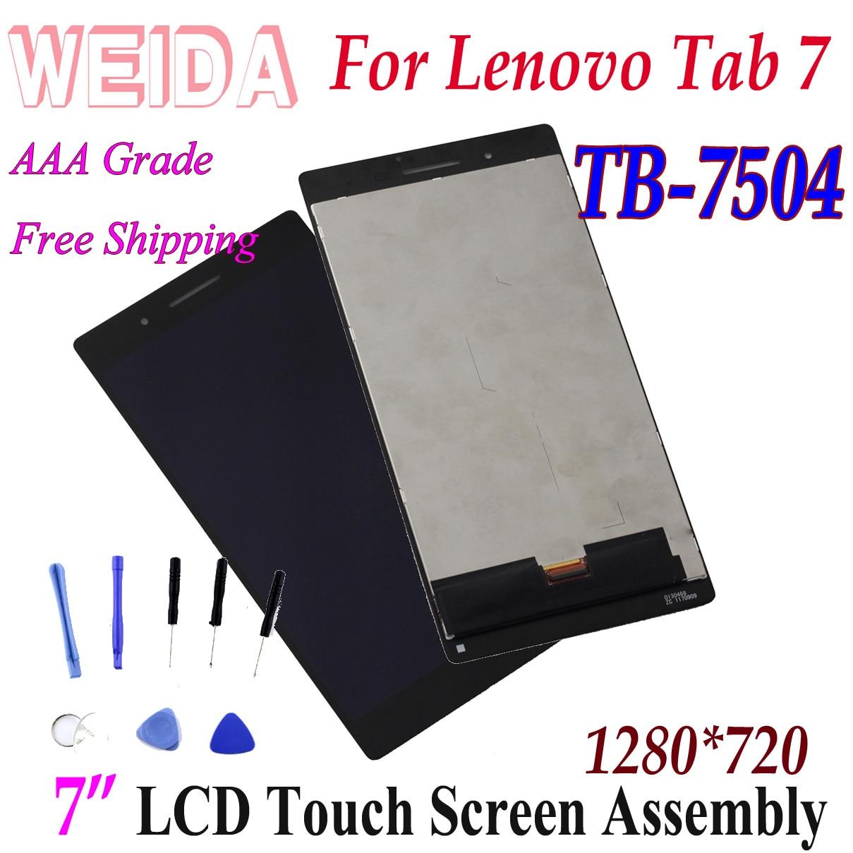 "WEIDA LCD Ersatz 6,98 ""Für Lenovo Tab 7 Wifi TB-7504F TB-7504N TB-7504X LCD Display Touch Screen tb7504 Tab 7504"