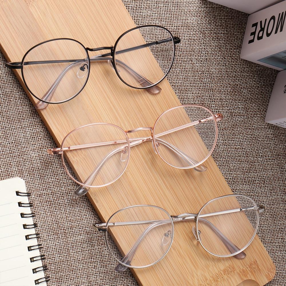 Gafas de miopía Vintage redondas de Metal con acabado Ultra ligero, gafas para miopía, gafas ópticas dioptrías, 1, 1,5, 2, 2,5, 3, 3,5 y 4