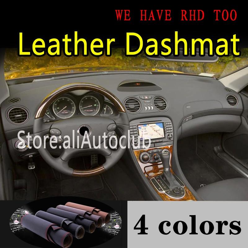 Para mercedes-benz SL Class AMG R230 g5 2002-2011 SL350 SL500 SL63 SL65, salpicadero de cuero, cubierta, tablero, Alfombra de sombrilla