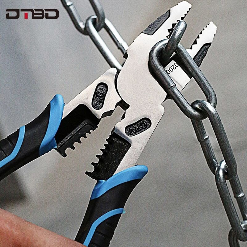 6''8''9'' Multifunction Pliers Set Combination Pliers Stripper/Crimper/Cutter Heavy Duty Wire Pliers