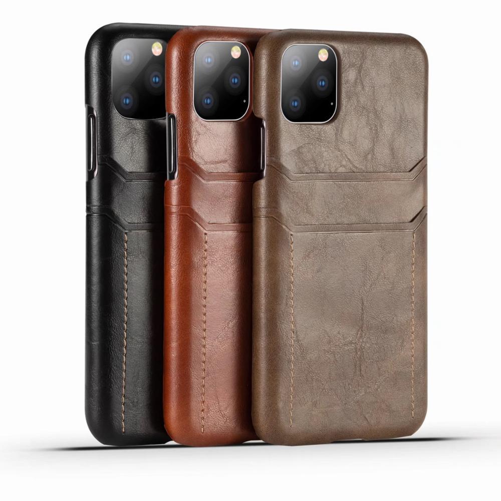 غطاء خلفي من جلد البقر لهاتف iPhone 11 ، 11Pro ، 11 ، Promax ، 7 ، 8 plus