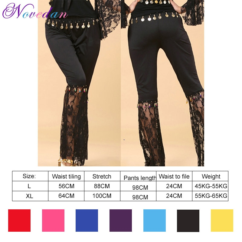 Belly Dance Trousers New Style Indian Clothes Practice Lace Flared Pants Professional Dancewear