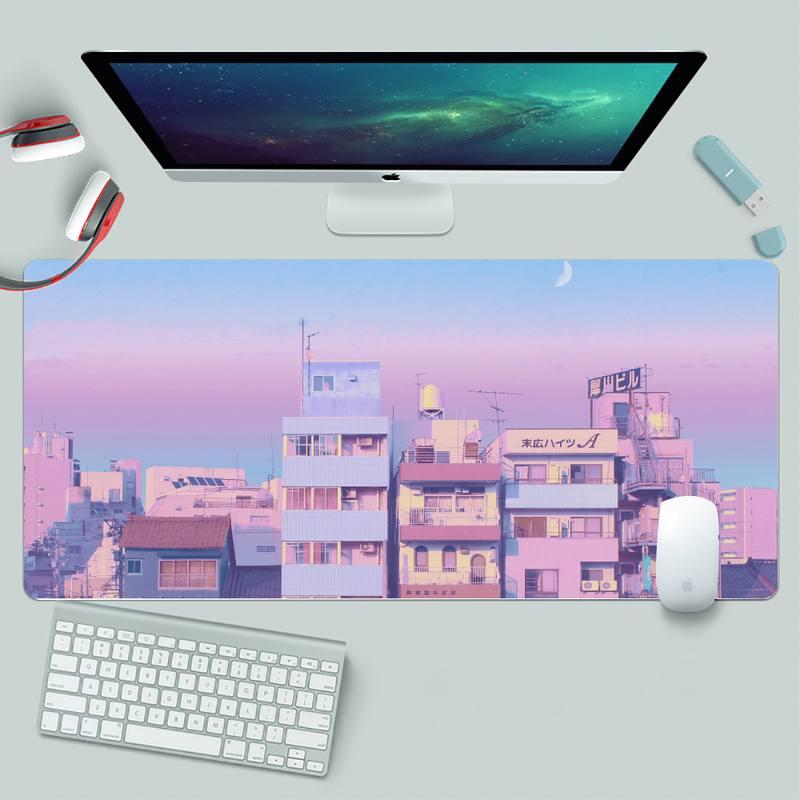 Aesthetic anime Natural Rubber Gaming mousepad Desk Mat XL Large Gamer Keyboard PC Desk Mat Takuo Computer Tablet Mouse mat