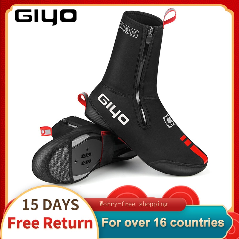 Cycling Boot Covers MTB Shoe Covers Winter Warm Thermal Neoprene Overshoes Waterproof Toe Cycling Shoe Covers Booties For Bike