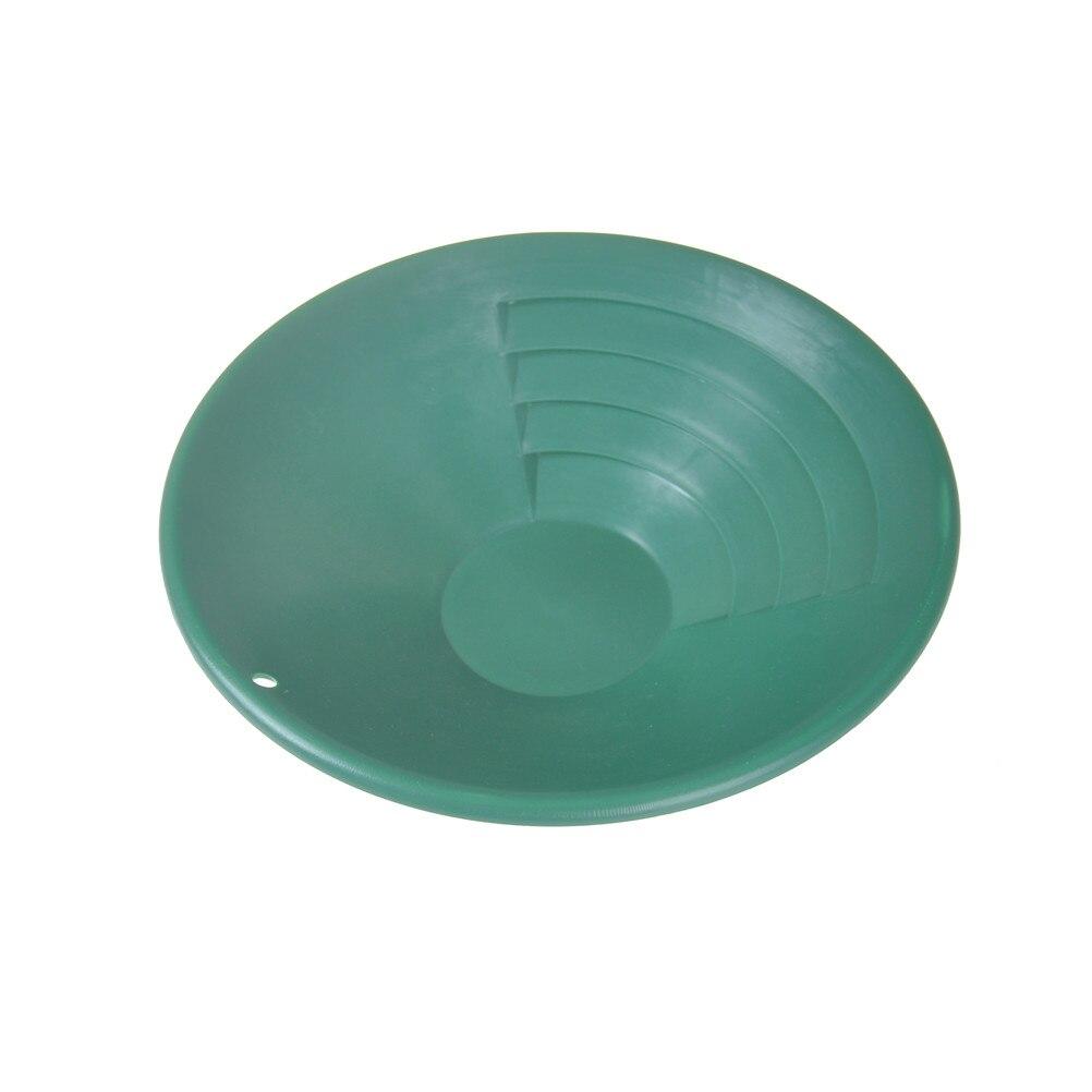 260*72mm Green Plastic Gold Pan Classifier Screen Mining Sifter Metal Detecting Tools Panning Classifier