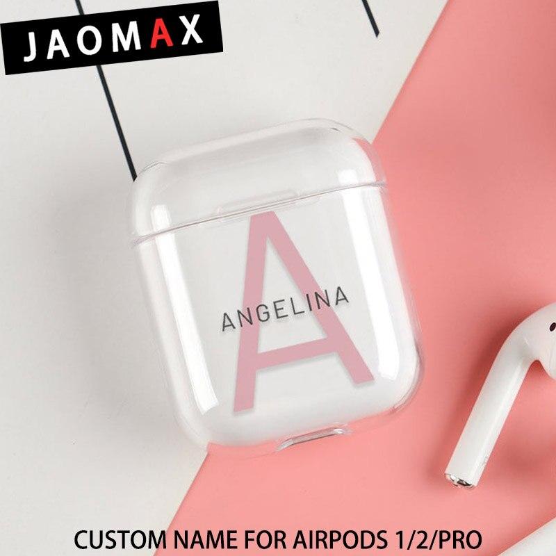 Funda de nombre personalizado para AirPods Pro, funda protectora personalizada con iniciales del nombre para Airpods 2