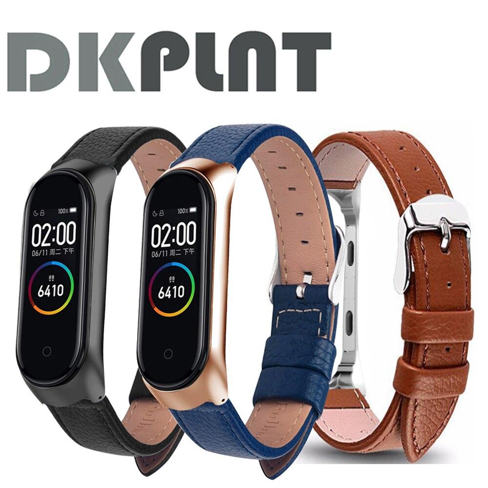 Bunte Leder Schwarz Rose Gold Fall Smart Uhr band für Xiaomi Mi Band 4/3/5 strap Für xiaomi mi band 5/4/3 armband armband