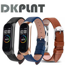 Colorful Leather Black Rose Gold Case for Xiaomi MiBand 6 4 5 strap For xiaomi mi band 5 4 3 6 bracelet strap Smart Watch band