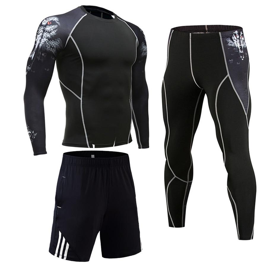 2019 Mannen Compressie Runing Shirts Pantsbasketball Jerseys Survetement Voetbal Training Broek Skinny Panty Leggings