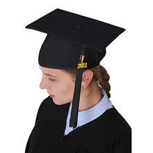 Graduation Hat Unisex Decorative Polyester Adult Graduation Tassel Cap for Bachelor