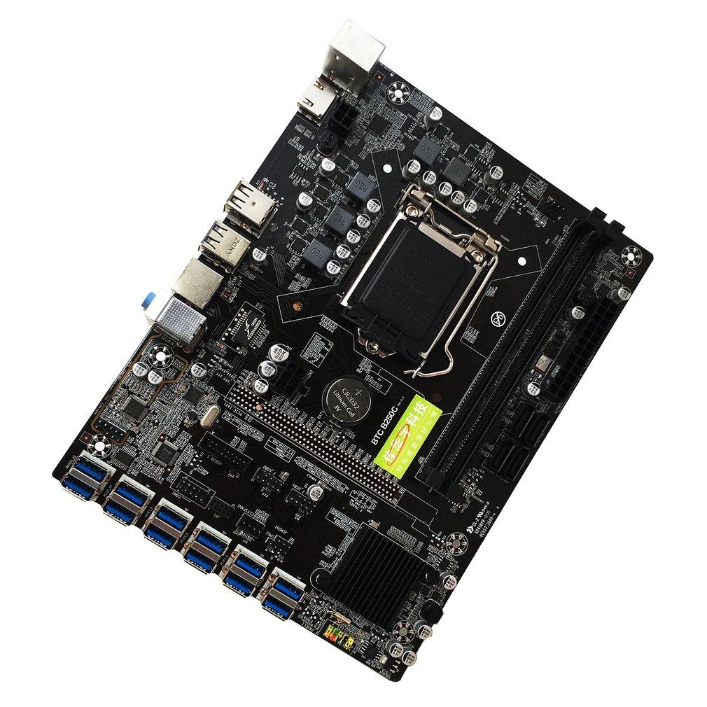 B250C لوحة أم للكمبيوتر مع 12 فتحة الرسومات USB3.0 إلى PCI-E واجهة صنعة دقيقة اللوحة الأم