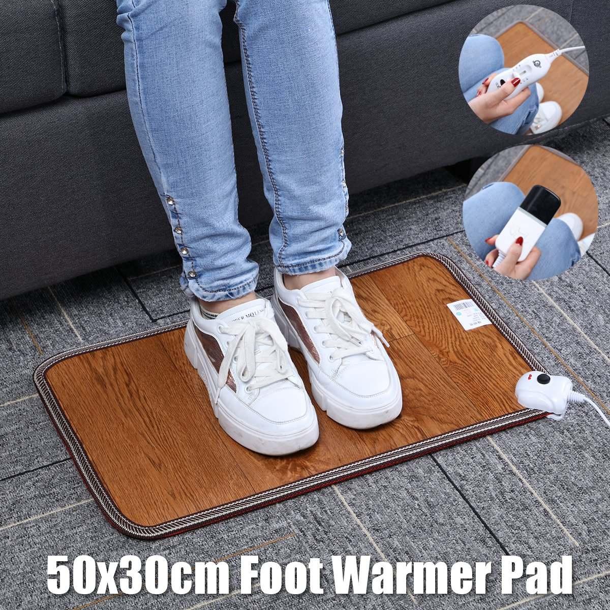 3 padrão de couro aquecimento pé esteira mais quente almofadas de aquecimento elétrico à prova dwaterproof água pés perna mais quente tapete termostato aquecimento ferramentas 220v