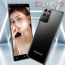 Smartphone Global Version S21+ Pro Deca Core Android10 Support Capacitive 6.3 Inch 16G 512G 6800mAH