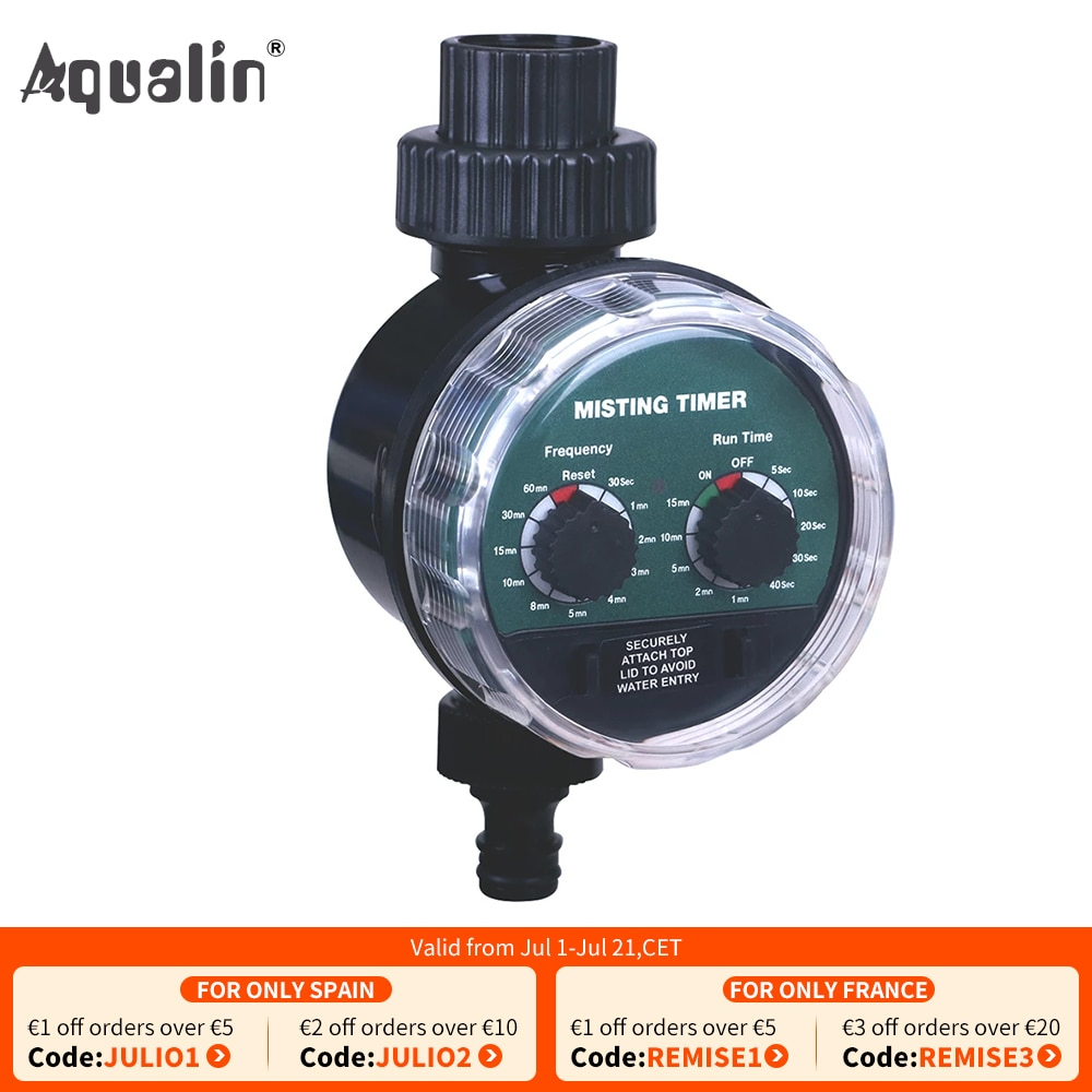 Misting Ball Valve Seconds Watering Timer Automatic Electronic Water Timer Home Garden Controller #2