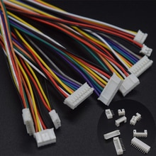 10 Sets/partij Micro Jst Ph PH2.0 2.0 Mm Toonhoogte Connector 2/3/4/5/6/7/8/9/10 P Pin Plug Draad Kabel 26AWG Lengte Man Vrouw Socket