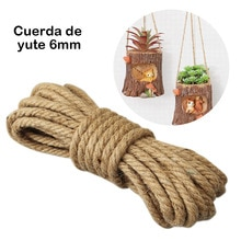 10/8/6mm Natural Jute Rope Twine Rope Handmade Jute Hemp String Twine for DIY Arts Crafts Decoration Packing Floristry 10m