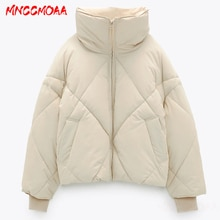 Winter Women  Oversize Parkas Coat 2020 New Solid Zipper Pockets Female Warm Short Jacket Overcoat