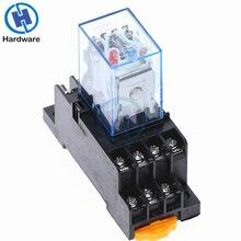 MY4NJ 14 pin 4DPDT Micro Mini relè elettromagnetico elettronico 5A bobina con Base presa PYF14A DC12V DC24V AC110V 220V