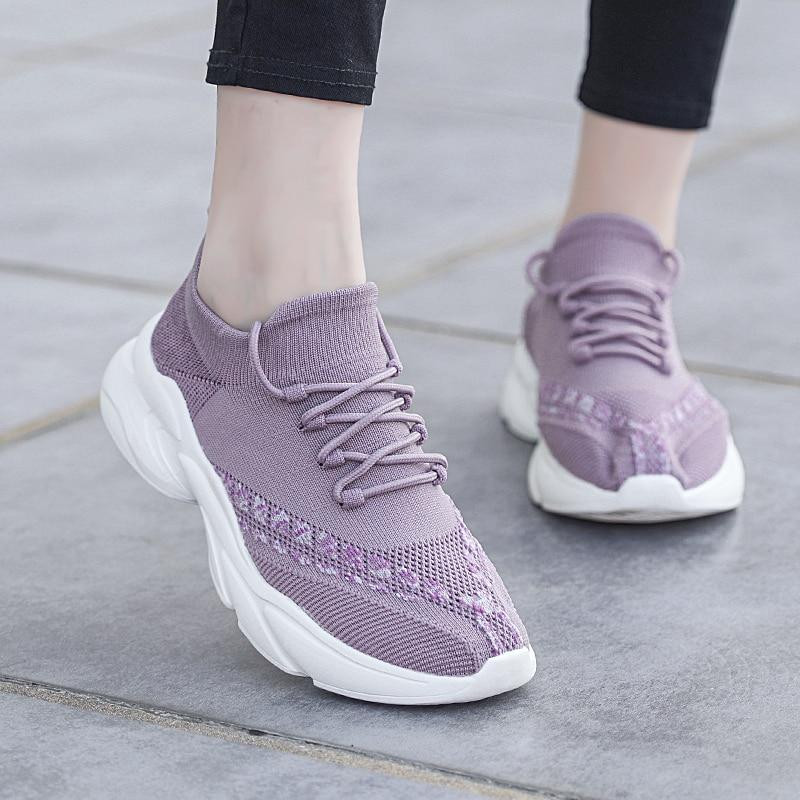 Women's Vulcanize Shoes,Platform Sneakers Sock Shoes Black Sneakers,Casual,Breathable Sneakers,Chunk
