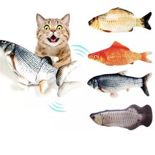 Electronic 3D Flippity Fish Toy Cat Nip USB Charging Simulation Toys For Interactive Game Cats Pet C