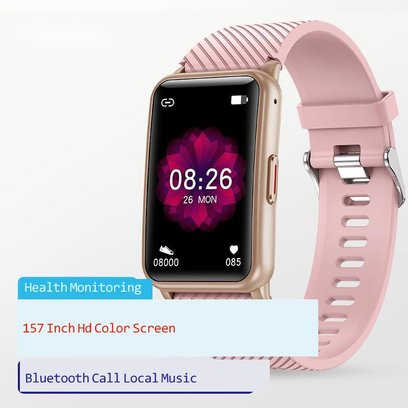 New H96 full touch screen one button smart Bluetooth call local music playback heart rate and blood pressure smart Bracelet