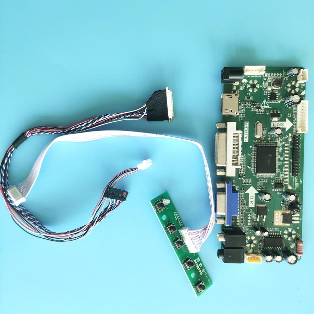 كيت ل LTN156AT02-D09 عرض لوحة M.NT68676 تحكم مجلس شاشة 1366X768 HDMI + DVI + VGA 40pin LCD LED 15.6