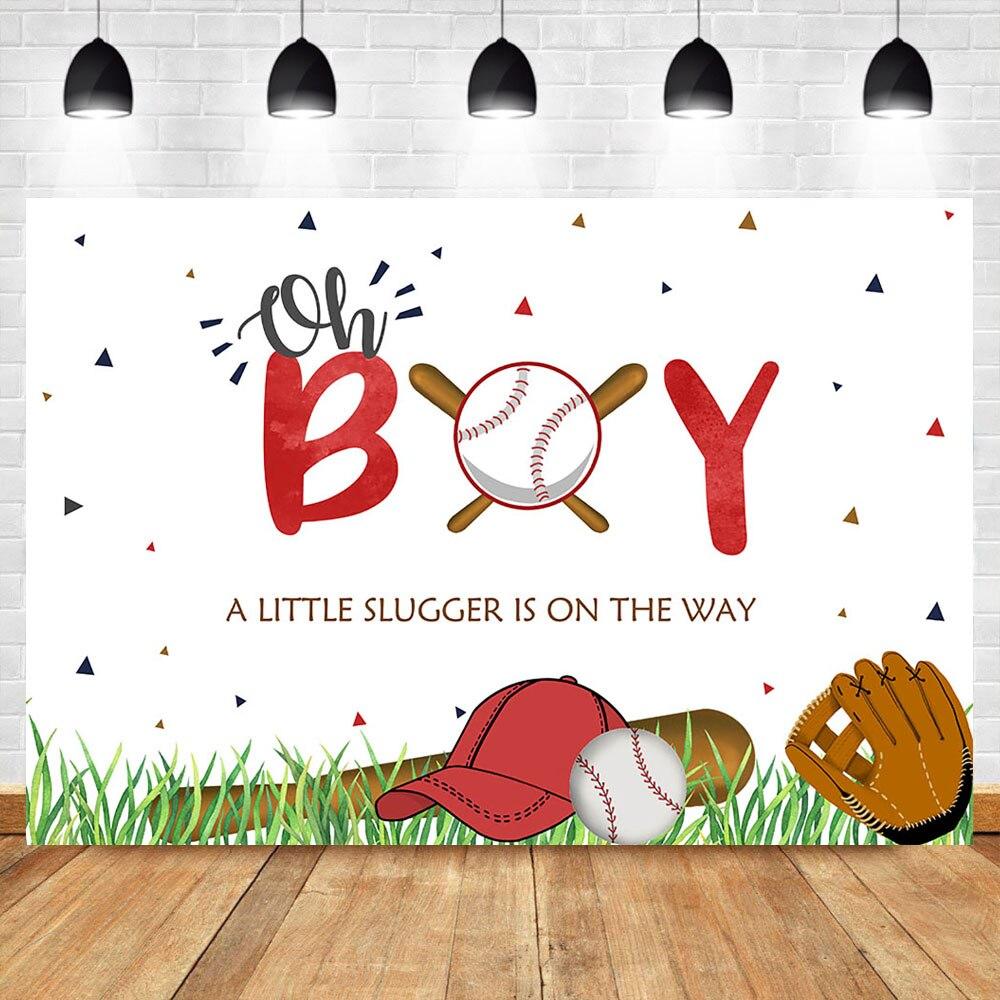 NeoBack Oh Boy Baby Shower contexto béisbol tema Baby Shower foto de fondo deportes recién nacido Baby Shower fotografía telones de fondo