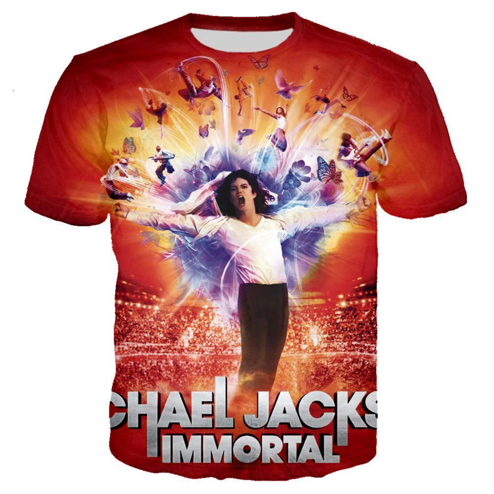 Superestrella Michael Jackson t camisa 3D imprimir Camiseta Rock hombres prendas de...