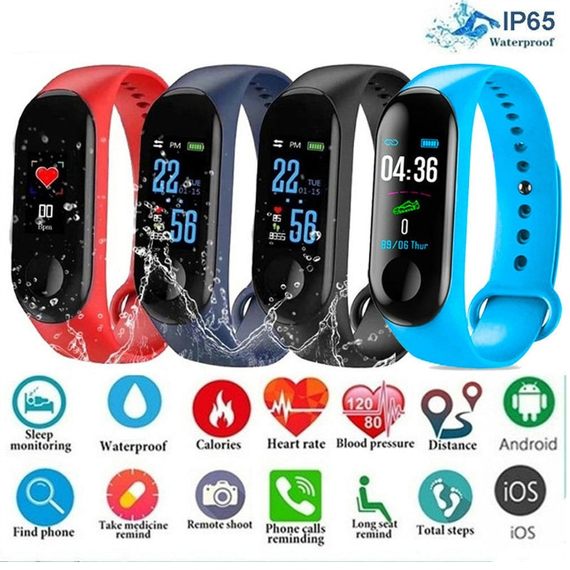 Hot Men Smart Sports Watch Blood Pressure Heart Rate Monitor Message Reminder Bluetooth Waterproof M