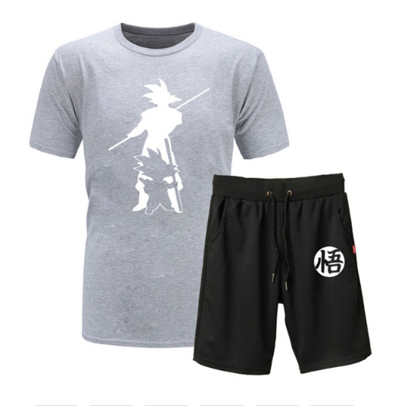 tracksuit men sets male sweatshirtpants summer men s cropped t shirt shorts casual smiley suits sportswear mens clothing t shirt Summer Anime Print Short sleeve Sets Men Casual Suits Sportswear Tracksuit Cotton T-shirt+Shorts Casual Hip Hop Print Clothing