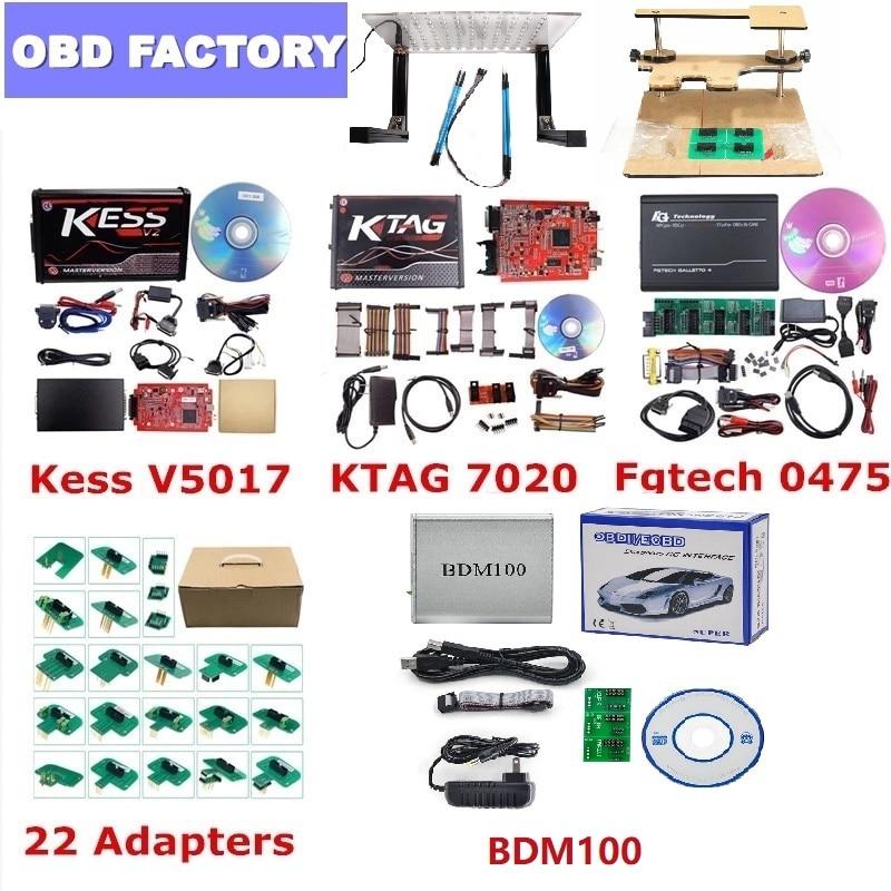 Kess v2.53 Ktag 7.020 Kess V2 V5.017 BDM marco KTAG BDM adaptadores 22 Uds KTAG BDM sonda adaptadores para Kess v2 5.017 ECU sintonización completa