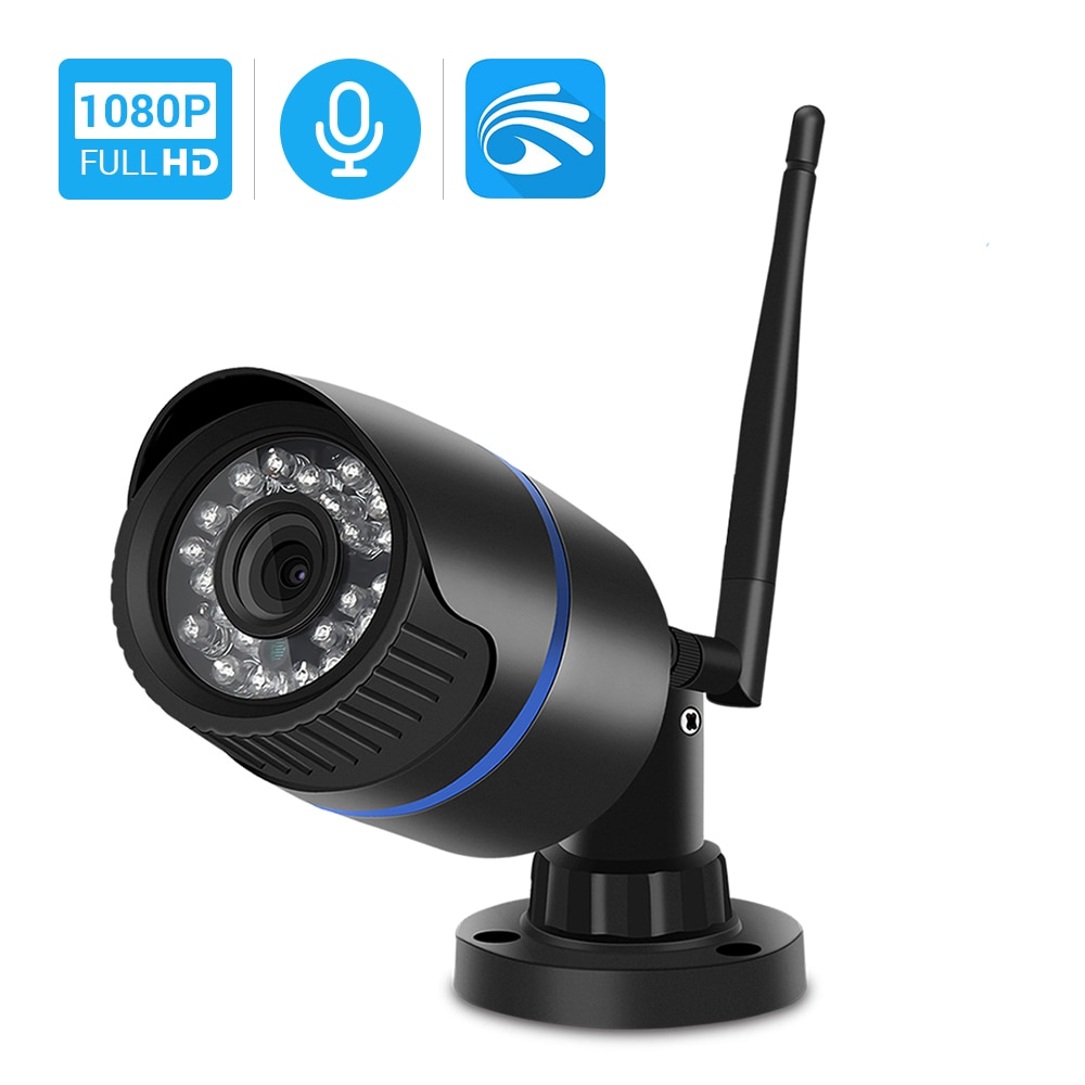 Hamrolte HD 1080P Yoosee Wifi Cámara bala al aire libre Onvif cámara inalámbrica de Audio Grabación de detección de movimiento con ranura para tarjeta SD