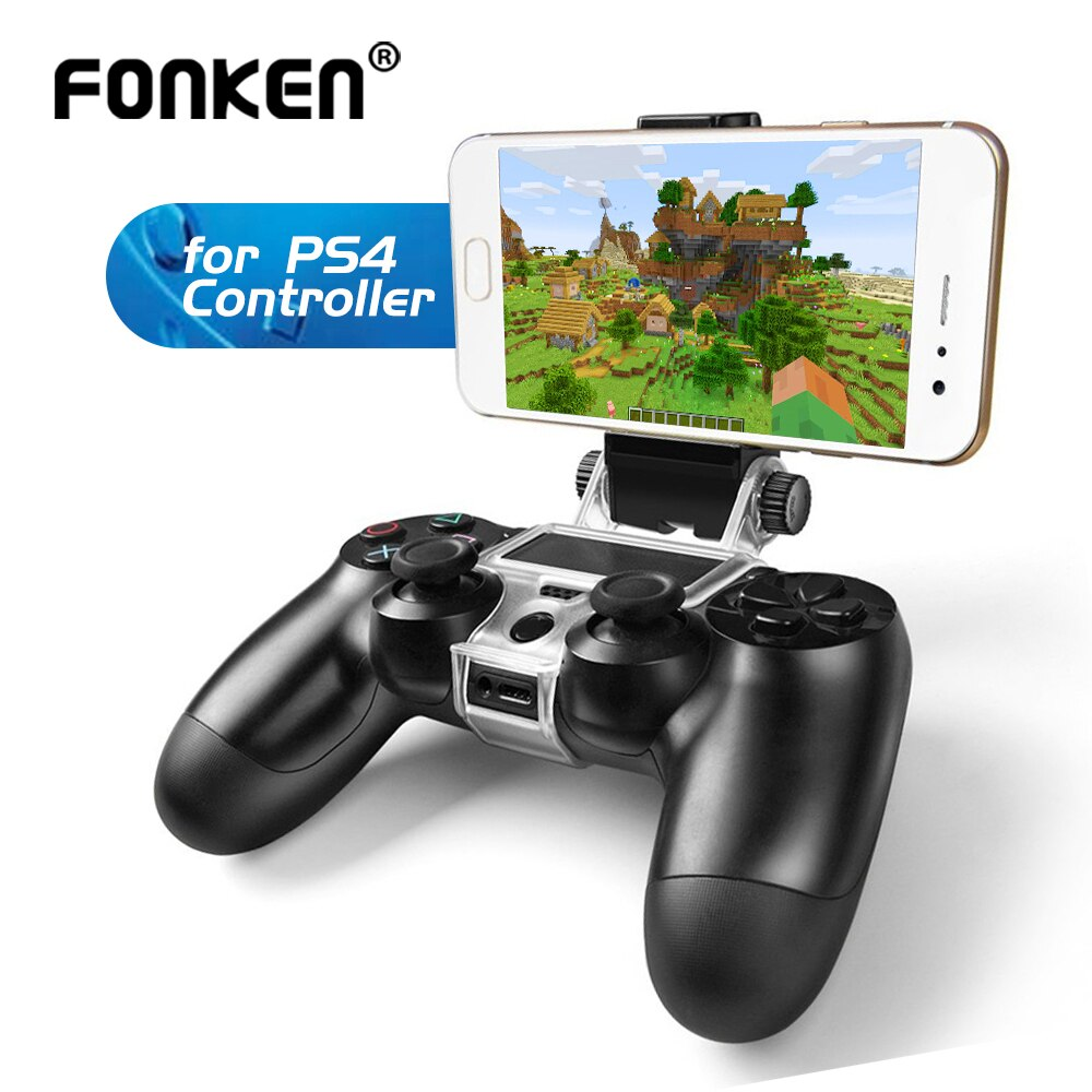 FONKEN soporte para teléfono móvil para PS4 Game Controller Gamepad soporte para teléfono Clip montaje PlayStation soporte para PS 4 soporte para pulsera
