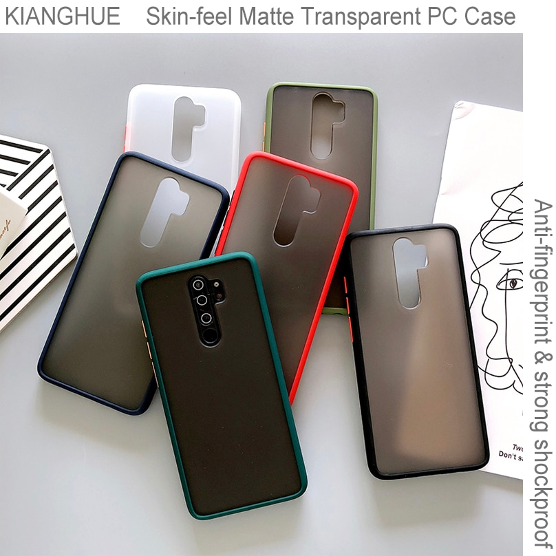 Funda de teléfono para Xiaomi duro de lujo Redmi Note 9s 9 8 7 6 Pro Max, funda completa mate transparente para Redmi 8a 7a K30 K20 Pro