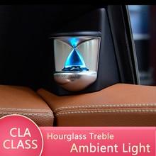 Suitable for Mercedes-Benz CLA-Class W117 year 2015+ 3D hourglass treble 12-color atmosphere lamp A-pillar audio modification