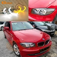 for bmw 1 series e82 e88 e87 e81 super bright led 3d hexagon angel eyes halo rings m4 iconic style crystal day light