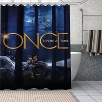 custom once upon a time shower curtain with plastic hooks modern fabric bath curtains home decor curtains custom your image