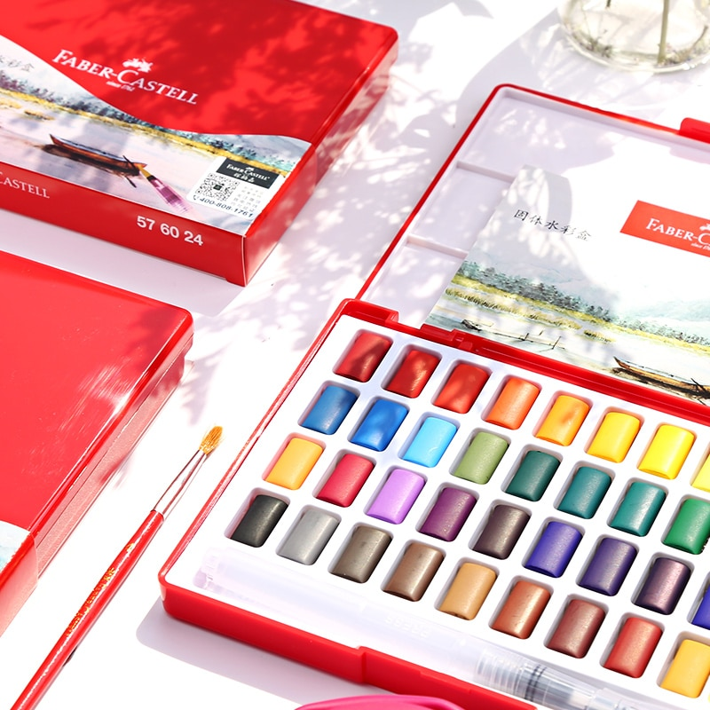 paul rubens 12 24 48 watercolor paint set with metal case solid artist water color painting pigment for drawing art supplies 24/36/48 Colors Solid travel WaterColor Paint Set Metal Iron Box Watercolor Painting Pocket Pigment For Drawing Art Supplies