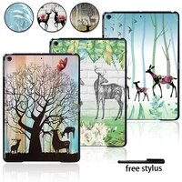 tablet hard shell case for apple ipad air 1 2 3air 4 10 9ipad 8th 7th 6th 5thmini 12345ipad 234 painting deer series case