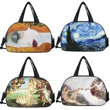 Van Gogh / Michelangelo / Da Vinci Art Women Travel Bags Starry Night Mona Lisa Ladies Handbag Multi