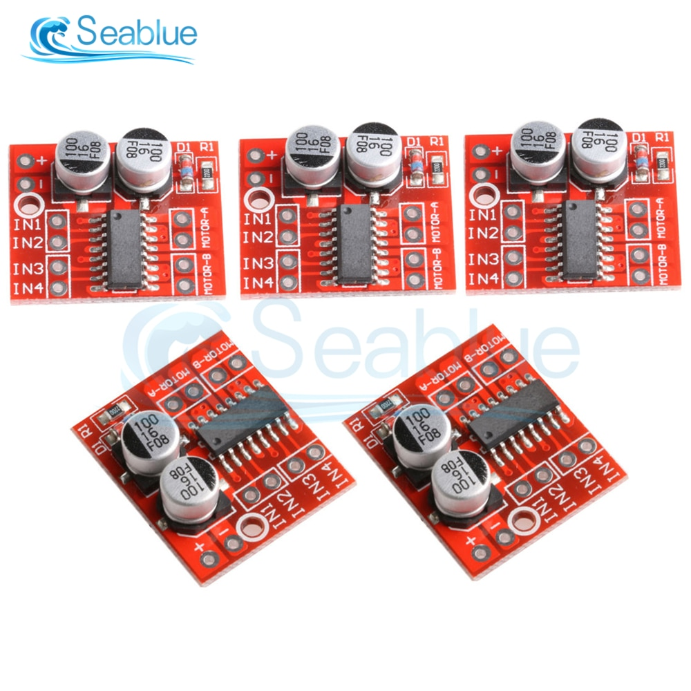 5 Pçs/lote MX1508 1.5A 2-Way DC Motor Driver Module DC 2V-10V Velocidade PWM Dual-Ponte H Motor de Passo L298N